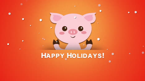Happy-Holidays-text-and-funny-pig-1