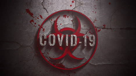 Animated-text-Covid-19-and-horror-background-with-toxic-sign-and-dark-blood