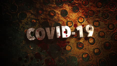 Animated-text-Covid-19-and-horror-background-with-dark-blood
