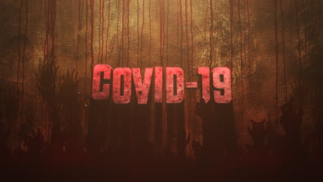 Animated-text-Covid-19-and-horror-background-with-dark-blood-and-help-hands