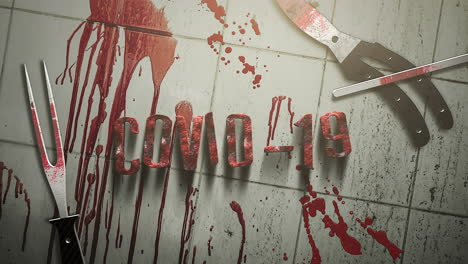 Animated-text-Covid-19-and-horror-background