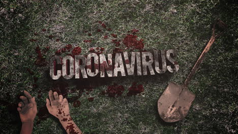 Animated-text-Coronavirus-and-horror-background-with-dark-blood-2