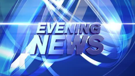 Text-Evening-News-and-news-intro-graphic-with-lines