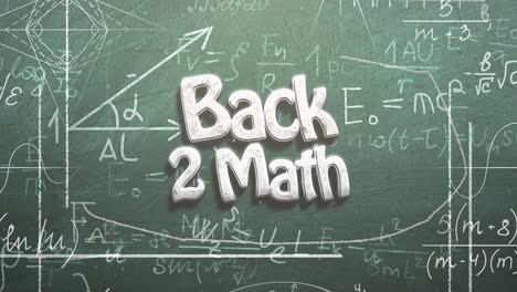 Closeup-text-Back-to-Math-and-closeup-mathematical-formula