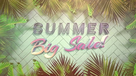 Animated-closeup-text-Summer-Big-Sale-and-tropical-flowers-and-leaf-3