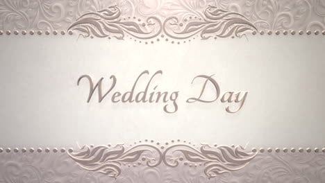 Closeup-text-Boda-Day-and-vintage-frame-with-flowers-motion