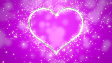 Closeup-pink-hearts-of-love-with-glitters