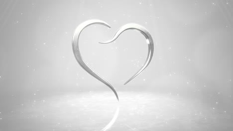 Closeup-white-hearts-of-love-with-glitters