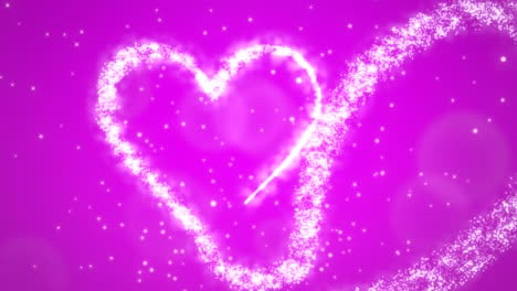 Animation-pink-hearts-of-love-with-glitters