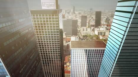 Panorama-Del-Paisaje-De-La-Ciudad-Con-Muchos-Edificios-Grandes