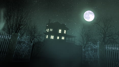 Mystical-horror-background-with-the-house-and-moon-2