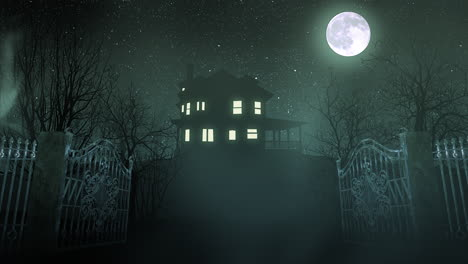 Mystical-horror-background-with-the-house-and-moon-3