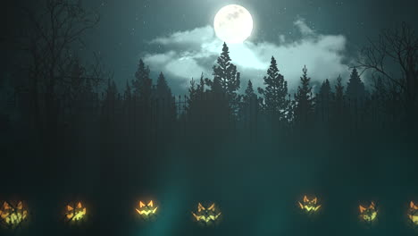 Halloween-background-animation-with-the-forest-and-pumpkin