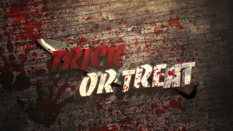 Trick-or-Treat-on-mystical-horror-background-with-dark-bloody-and-knife-on-wood