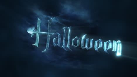 Halloween-Y-Fondo-De-Animación-Mística-Con-Luna-Oscura-Y-Nubes.