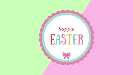 Animated-closeup-Happy-Easter-text-on-green-and-pink