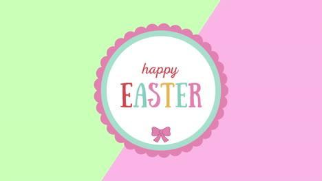 Primer-Plano-Animado-Feliz-Pascua-Texto-En-Verde-Y-Rosa