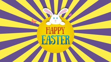 Animated-closeup-Happy-Easter-text-and-rabbit-on-yellow-and-purple-vertigo-1