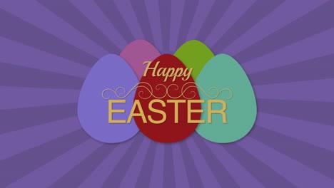 Primer-Plano-Animado-Feliz-Pascua-Texto-Y-Huevos-En-Púrpura