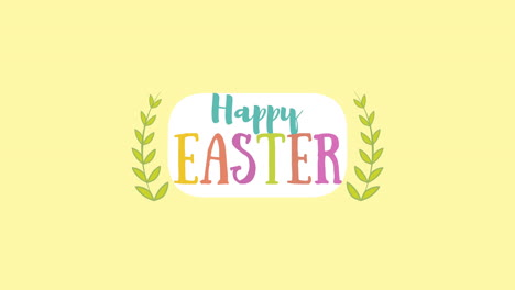Animated-closeup-Happy-Easter-text-on-yellow-background-2