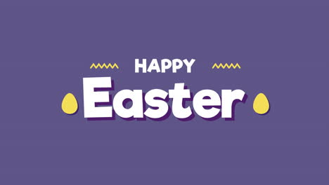 Animated-closeup-Happy-Easter-text-on-purple-background-1