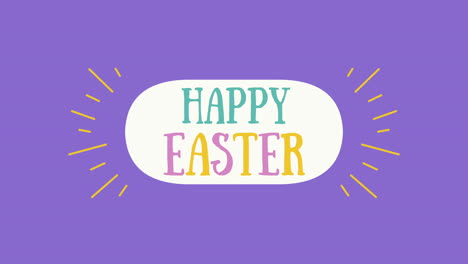 Animated-closeup-Happy-Easter-text-on-purple-background-4