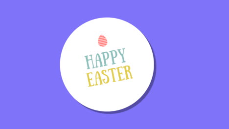 Animated-closeup-Happy-Easter-text-on-blue-background-3