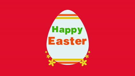 Animated-closeup-Happy-Easter-text-and-egg-on-red-background-1