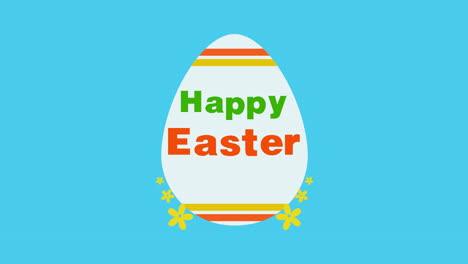 Primer-Plano-Animado-Feliz-Pascua-Texto-Y-Huevo-Sobre-Fondo-Azul-