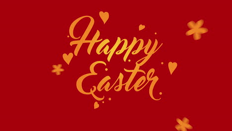 Animated-closeup-Happy-Easter-text-on-red-background-2