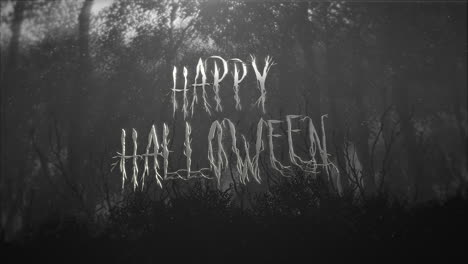 Happy-Halloween-and-mystical-halloween-background-with-dark-forest-and-fog-1