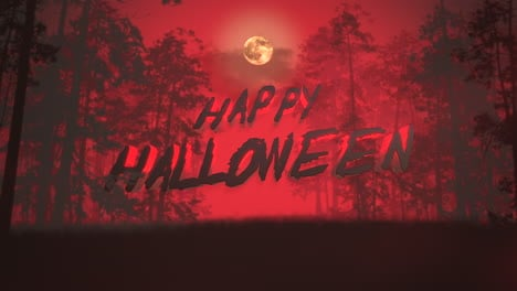 Happy-Halloween-and-mystical-background-with-dark-forest-and-fog-1