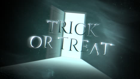 Trick-or-Treat-and-mystical-horror-background-with-dark-door-of-room