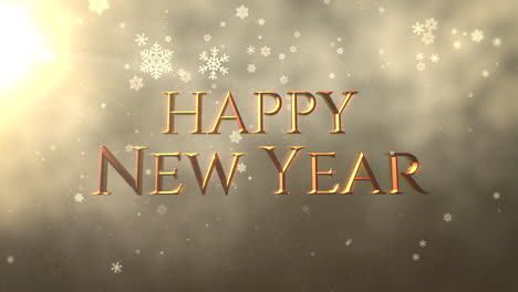 White-snowflake-falling-and-animated-closeup-Happy-New-Year-text