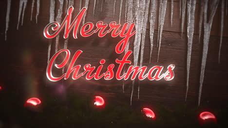 Feliz-Navidad-Texto-Con-Bolas-Rojas-Y-Carámbanos