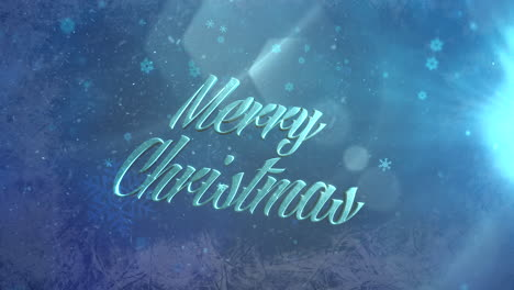 Abstract-blue-snow-falling-and-Merry-Christmas-text