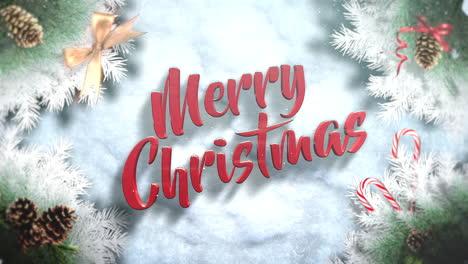 Frohe-Weihnachten-Text-Mit-Grünen-Ästen-Und-Spielzeug-2