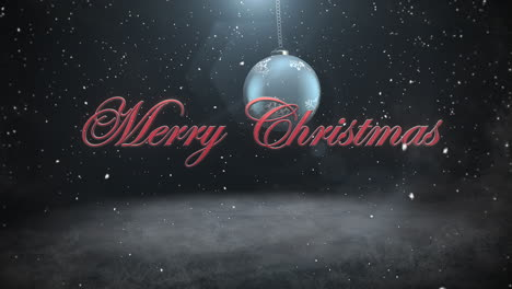 Merry-Christmas-text-and-white-snowflakes-with-red-balls-1