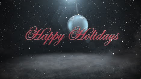 Happy-Holidays-text-and-white-snowflakes-with-red-balls-1