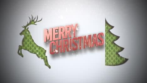 Feliz-Navidad-Texto-Con-árbol-De-Navidad-Verde-Y-Ciervos