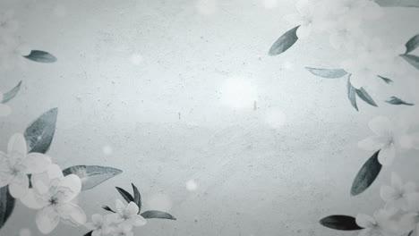 Nahaufnahmeblumen-Mit-Bewegungshochzeitshintergrund-4