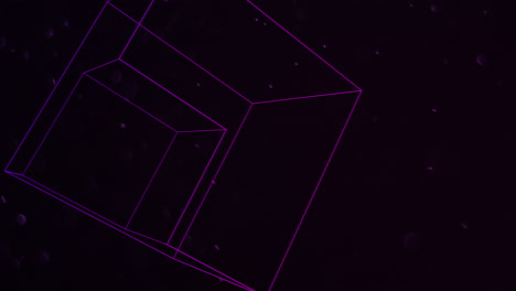Motion-abstract-geometric-shape-with-particles-in-space-7