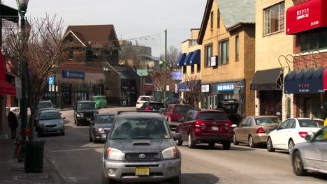 Los-Coches-Circulan-Cerca-De-La-Entrada-Del-Puente-George-Washington-En-Ft-Lee-New-Jersey