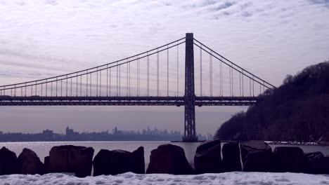 El-Puente-George-Washington-Conecta-Nueva-Jersey-Con-El-Estado-De-Nueva-York