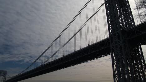 Pan-A-Través-Del-Puente-George-Washington-Que-Conecta-Nueva-York-Con-Nueva-Jersey