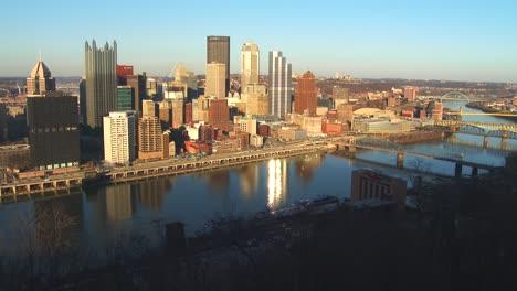 Plano-General-Del-Centro-De-La-Ciudad-De-Pittsburgh-PA