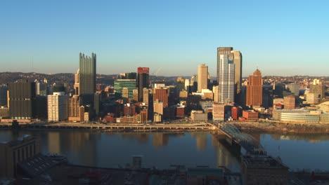 Plano-General-De-Pittsburgh-PA-Al-Atardecer