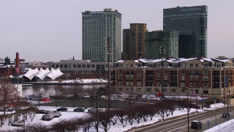 Snow-blankets-downtown-Baltimore-Maryland-1