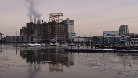 The-Domino-Sugar-factory-on-Chesapeake-Bay-near-Baltimore-Maryland