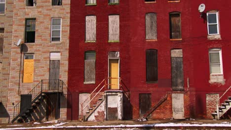 Edificios-Abandonados-En-Un-Tugurio-Del-Norte-De-Baltimore